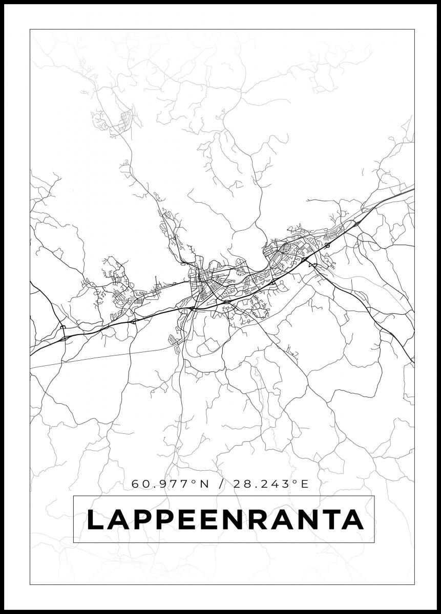 Kartta Lappeenranta Valkoinen Bga Fi