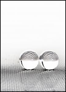 Concept with balls on fantasy background Juliste