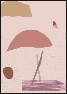 Abstract Art - Pink Juliste