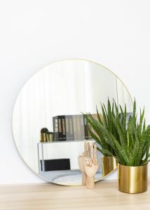 KAILA Round Mirror - Thin Brass 70 cm Ø