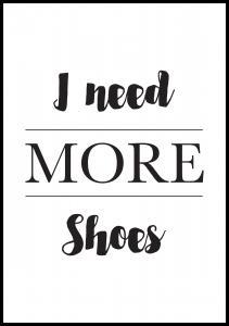 More Shoes Juliste