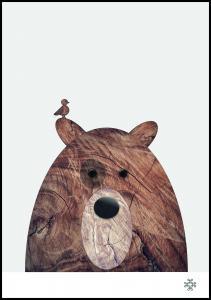 Wood bear Juliste
