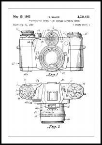 Patentti Piirustus - Kamera I Juliste