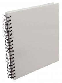 Neliö Spiraalialbumi Valkoinen - 25x25 cm (80 Valkoista sivua / 40 lehteä)