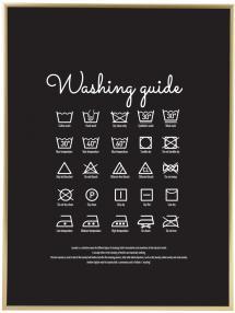 Washing guide - Black Juliste
