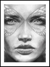Magdaty - Lady Butterfly Juliste