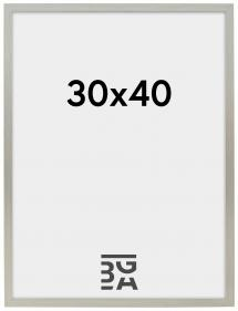 Edsbyn Hopeanvärinen 30x40 cm