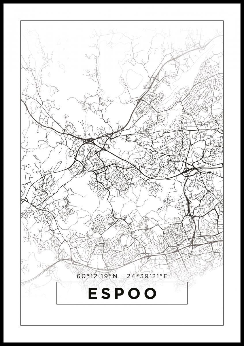 Kartta Espoo Valkoinen Bga Fi
