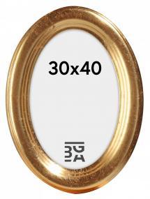 Molly Ovaali Kullanvärinen 30x40 cm