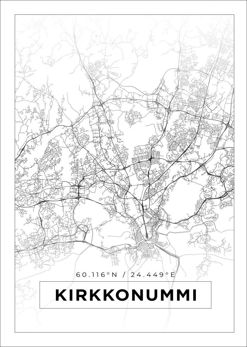 Kartta Kirkkonummi Valkoinen Bga Fi