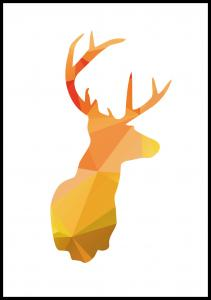 Deer - Höstfärger Juliste