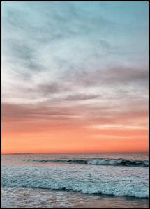 Waves Under Sunset Juliste