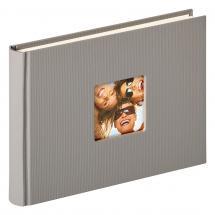 Fun Design Harmaa - 22x16 cm (40 Valkoista sivua / 20 lehteä)