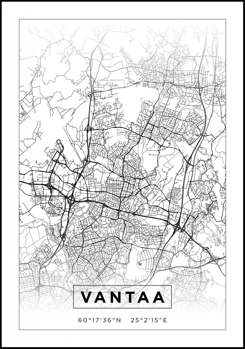 Kartta Vantaa Valkoinen Bga Fi
