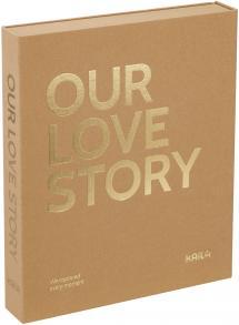 KAILA OUR LOVE STORY Manilla - Coffee Table Photo Album (60 Mustaa sivua)