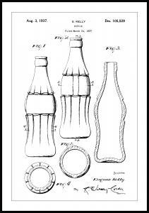 Patentti Piirustus - Coca Cola Pullo Juliste