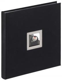 Black & White Musta- 30x30 cm (50 Mustaa sivua / 25 lehteä)