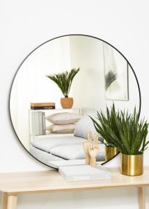KAILA Round Mirror - Edge Black 100 cm Ø