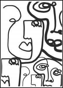 Graphic Faces II Juliste
