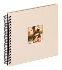 Fun Spiraalialbumi Hiekka - 26x25 cm (40 Mustaa sivua / 20 lehteä)