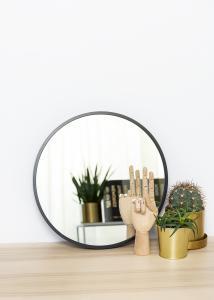 KAILA Round Mirror - Edge Black 40 cm Ø