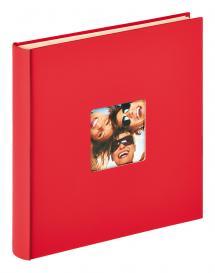 Fun Itsekiinnittyvä Punainen - 33x34 cm (50 Valkoista sivua / 25 lehteä)
