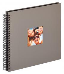 Fun Spiralalbum Harmaa - 30x30 cm (50 Musta sivua / 25 lehteä)