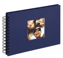 Fun Kierrealbumi Sininen - 23x17 cm (40 Mustaa sivua / 20 lehteä)