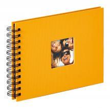 Fun Spiraalialbumi Keltainen - 23x17 cm (40 Mustaa sivua / 20 lehteä)