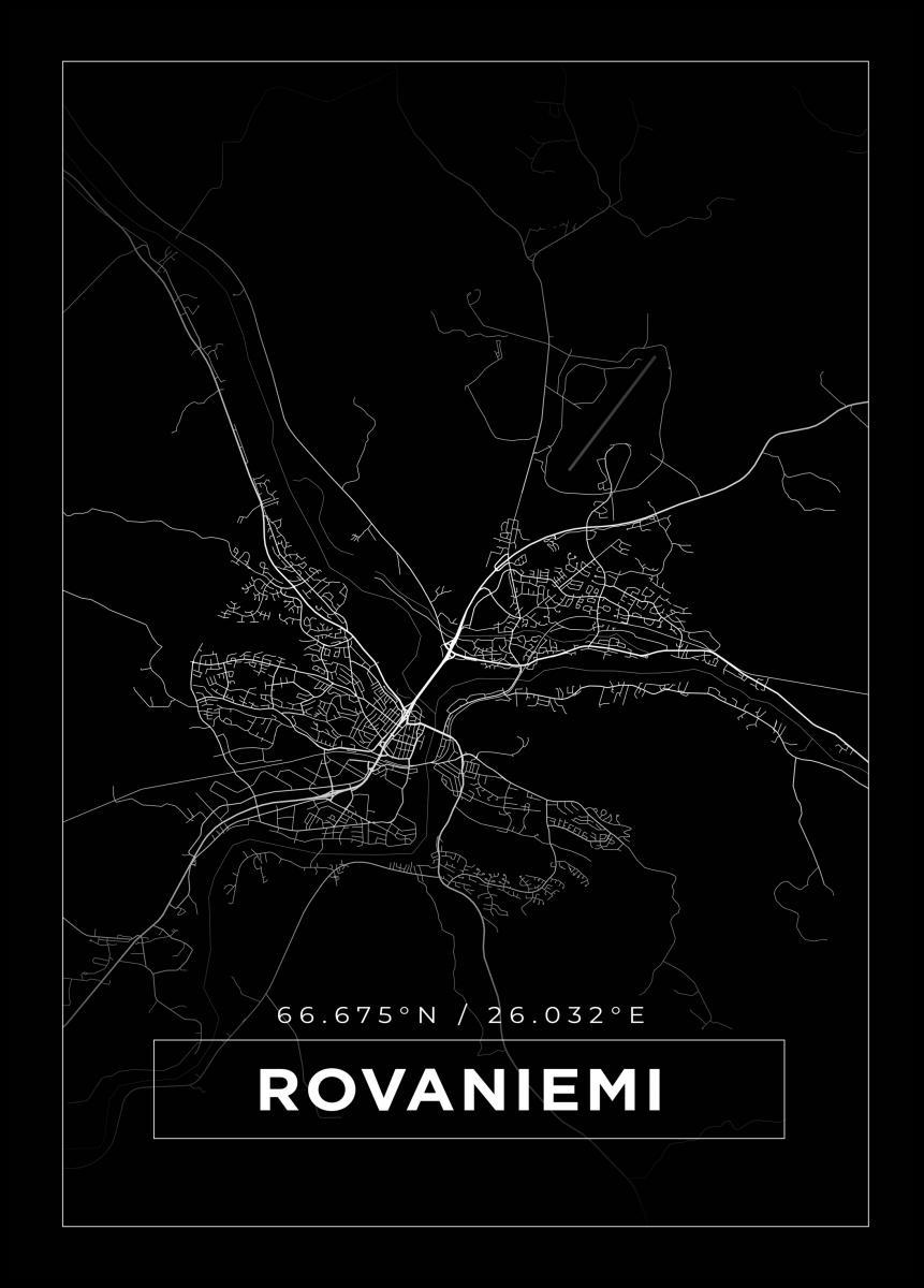 Kartta Rovaniemi Musta Bga Fi