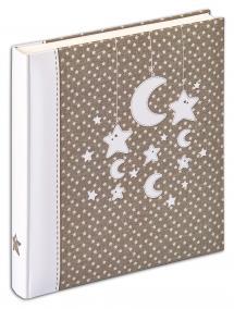 Stars & Moon - 28x30,5 cm (50 Valkoista sivua / 25 lehteä)