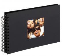 Fun Kierrealbumi Musta - 23x17 cm (40 Mustaa sivua / 20 lehteä)