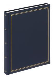 Monza Itsestäänkiinnittyvä Sininen - 25x30 cm (30 Valkoista sivua / 15 lehteä)