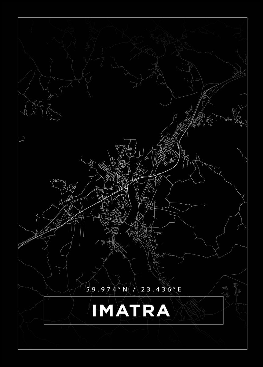 Kartta Imatra Musta Bga Fi