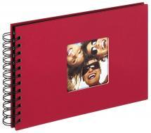 Fun Kierrealbumi Punainen - 23x17 cm (40 Mustaa sivua / 20 lehteä)