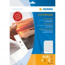 Herma Valokuvataskut 20x30 cm Pysty - 10-pakkaus Valkoinen