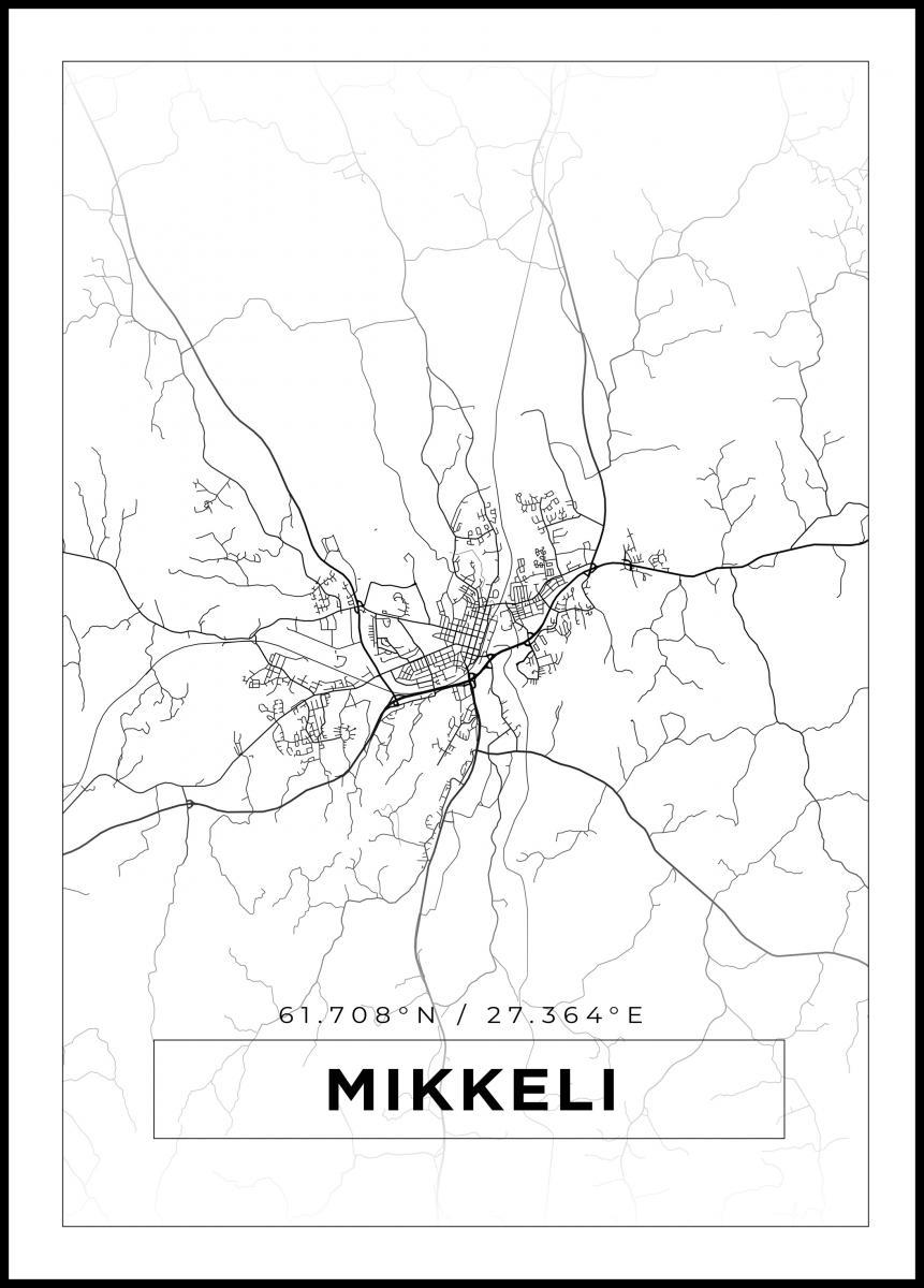 Kartta Mikkeli Valkoinen Bga Fi