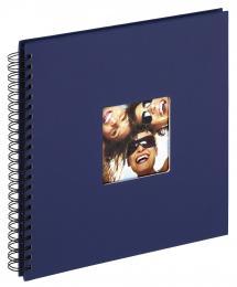 Fun Kierrealbumi Sininen - 30x30 cm (50 Mustaa sivua / 25 lehteä)
