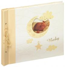 Vauva-albumi Bambini Maxi Creme - 28x25 cm (60 Valkoista sivua / 30 lehteä)