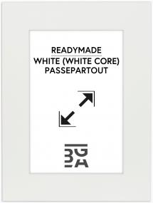Paspatuuri Valkoinen (Valkoinen keskus) 18x24 cm (12x17)