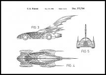 Patentti piirustus - Batman - Batmobile 1996 II Juliste