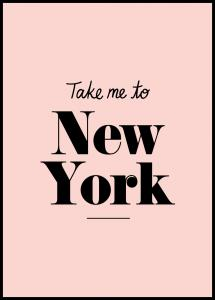 Take me to New York - Pink Juliste