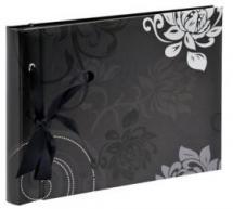 Grindy Musta - 23,5x16 cm (40 Mustaa sivua / 20 lehteä)