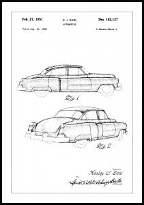 Patentti Piirustus - Cadillac I Juliste
