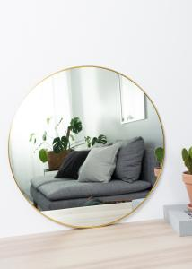 KAILA Round Mirror - Thin Brass 60 cm Ø