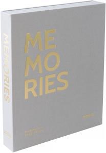 KAILA MEMORIES Grey - Coffee Table Photo Album (60 Mustaa sivua / 30 lehteä)