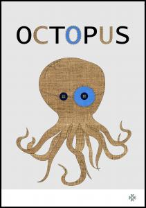 Fabric octopus Juliste
