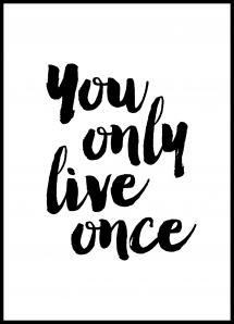 You only live once Juliste