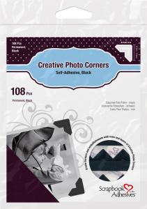 3L Creative Photo Corners Musta - 108 kpl