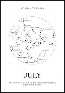 Monthly star July Juliste